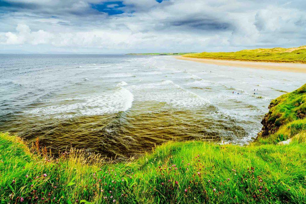 Beach near Bundoran Town in Donegal