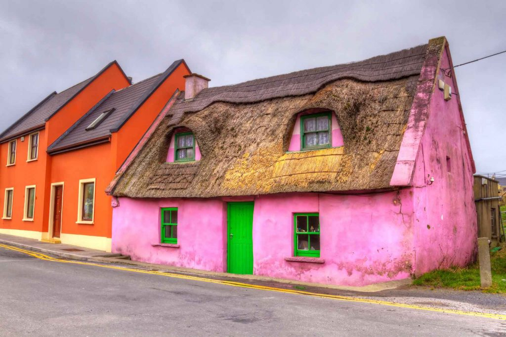 Pink cottage in Doolin